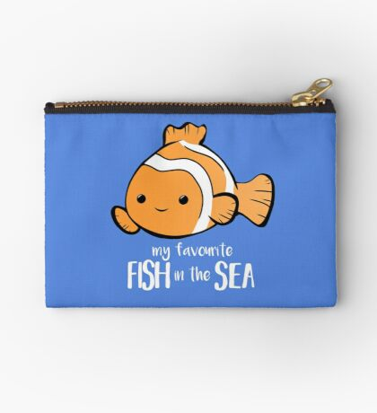 My favourite FISH in the sea - Pun - Anniversary - Birthday - Fish Pun - Clownfish Zipper Pouch
