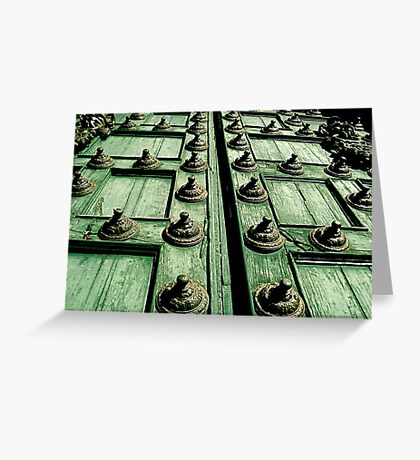 Rustic Church Door Greeting Card