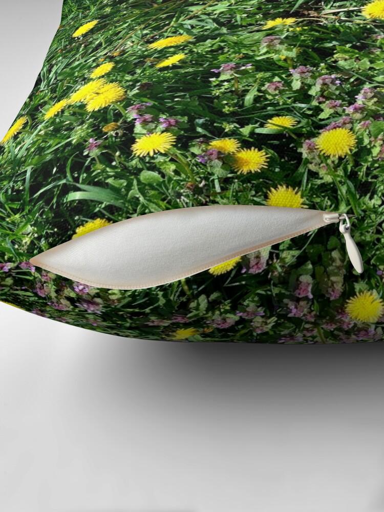 Alternate view of Dandelions Floor Pillow