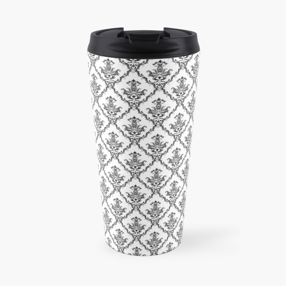 Damask floral .Decorations and ornamental. Travel Mug