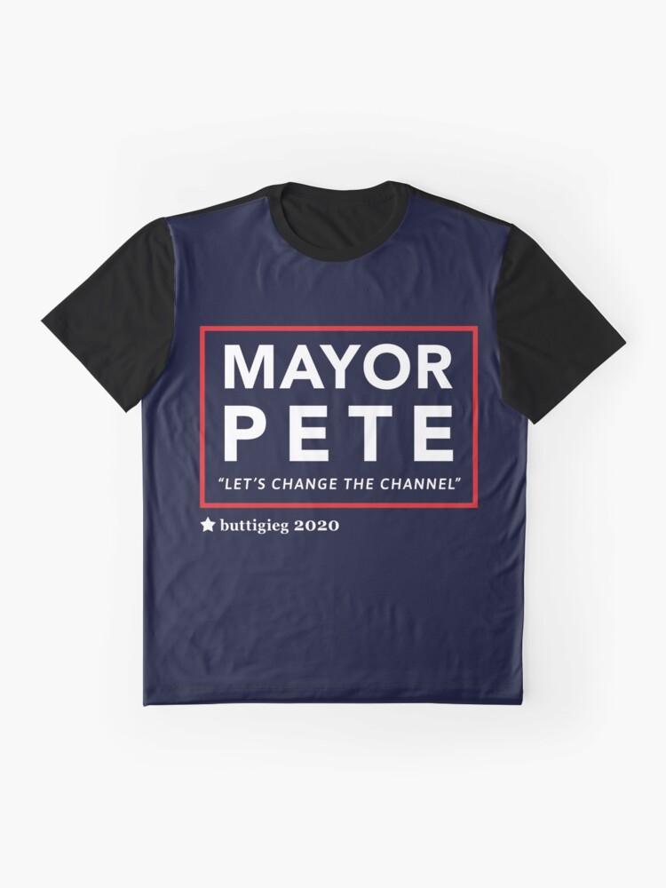 Alternative Ansicht von Bürgermeister Pete Buttigieg 2020 Grafik T-Shirt