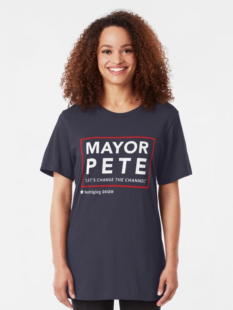 Alternative Ansicht von Bürgermeister Pete Buttigieg 2020 Slim Fit T-Shirt