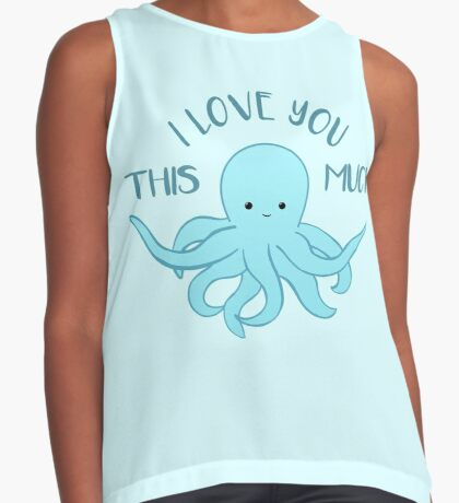 OCTOPUS Funny Pun - Funny Valentines Day Card - Anniversary Pun Sleeveless Top
