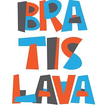 Bratislava Hand Drawn Text by designkitsch