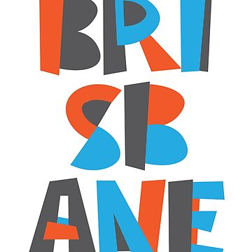 Brisbane Hand Drawn Text by designkitsch