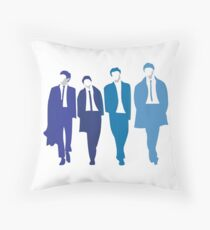Shades of blue The Beatles Throw Pillow