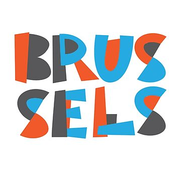 Brussels Hand Drawn Text by designkitsch