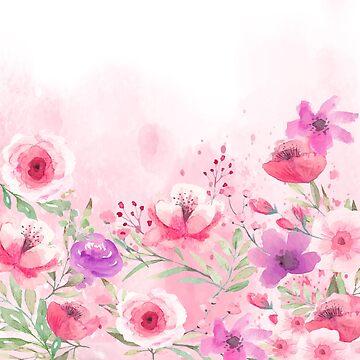 pink garden by MallsD