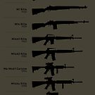100 Years of American Service Rifles (No Weathering) by nothinguntried