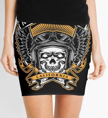 Skull Wings Motorclub California Mini Skirt