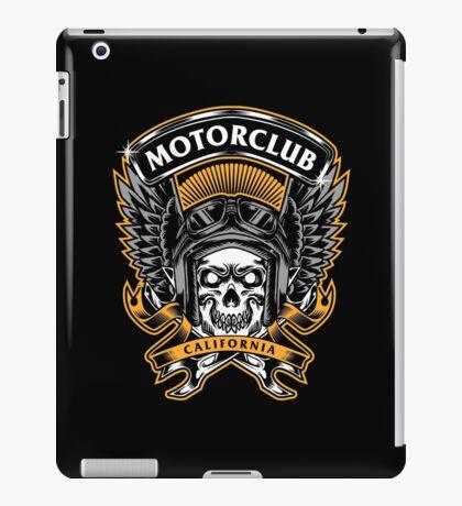 Skull Wings Motorclub California iPad Case/Skin