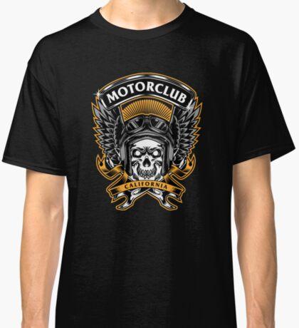 Skull Wings Motorclub California Classic T-Shirt