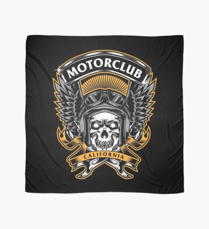 Skull Wings Motorclub California Scarf