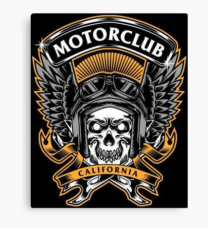 Skull Wings Motorclub California Canvas Print
