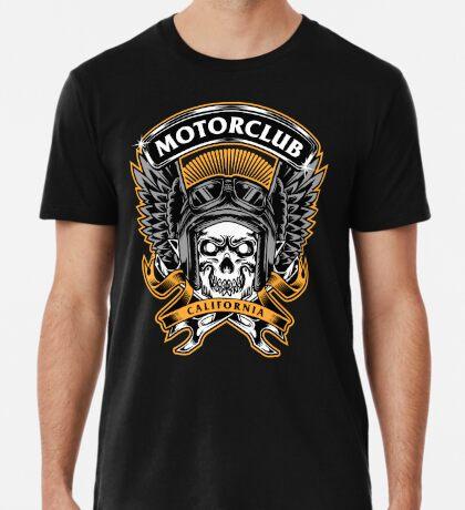 Skull Wings Motorclub California Premium T-Shirt