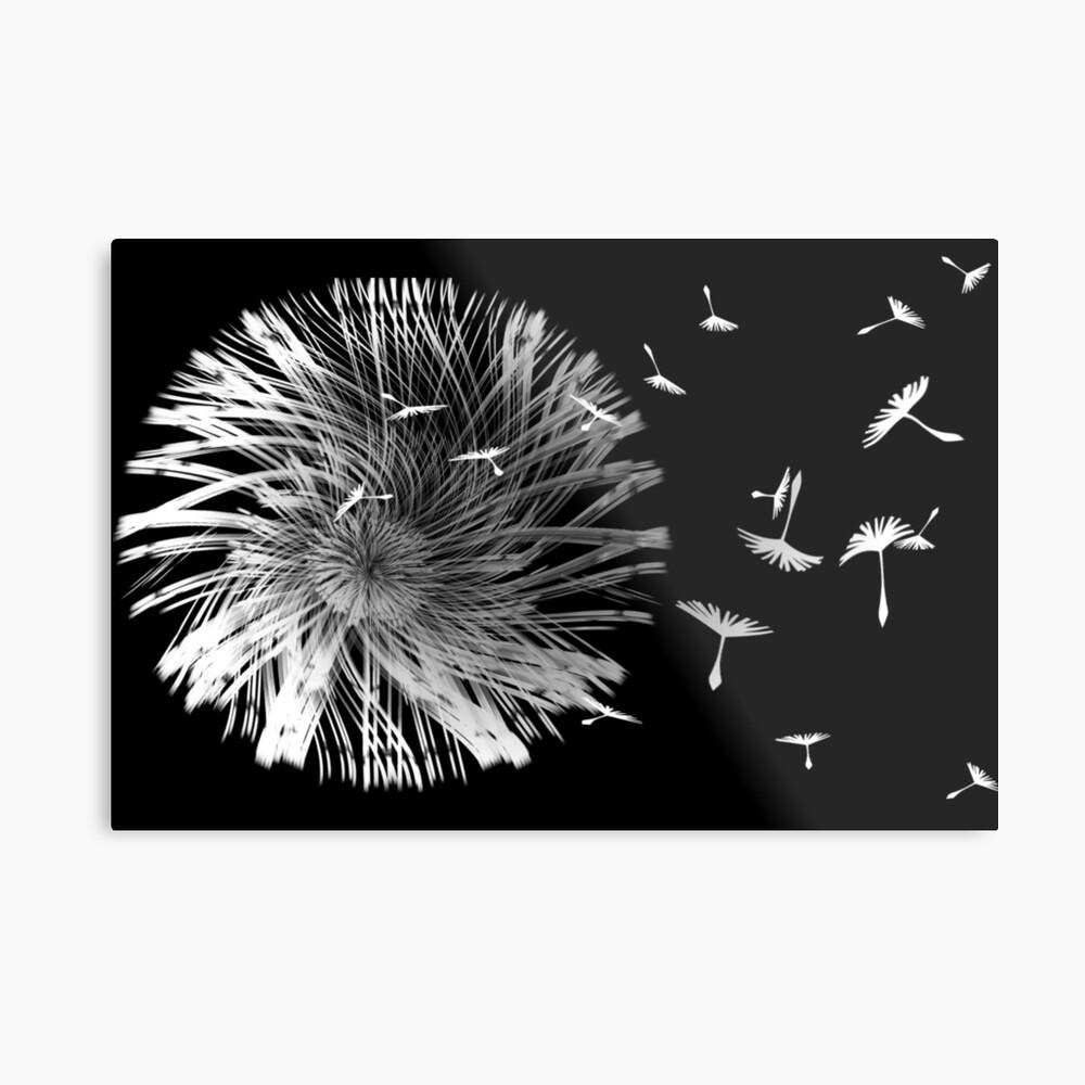 Dandelion Blowing in the Wind Metallbild