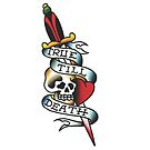 Traditional True Till Death Tattoo Design by FOREVER TRUE TATTOO