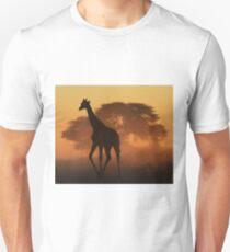 Giraffe - African Wildlife Background - Triangles in Nature Unisex T-Shirt