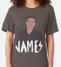 Heroes of Quiz Shows: James Holzhauer (Jeopardy!) Slim Fit T-Shirt