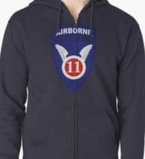 11th Airborne Division (United States - Historical) Zipped Hoodie