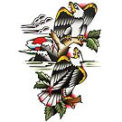 Traditional Mountain Eagles Tattoo Design by FOREVER TRUE TATTOO