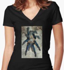 Cobalt Blue Tarantula Women's Fitted V-Neck T-Shirt
