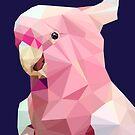 «Galah rosa geométrica» de purplesparrow