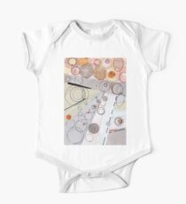 Ultra Light - ink drawing Short Sleeve Baby One-Piece