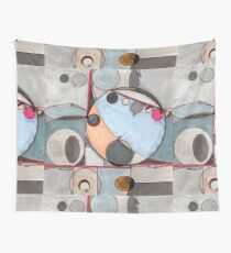 Slits and Mirrors, Ink drawing Wall Tapestry