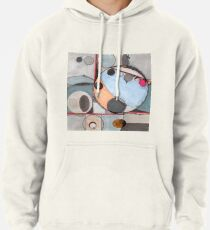 Slits and Mirrors, Ink drawing Pullover Hoodie