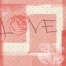 «Love con motivos rosa romantico» de alquimista