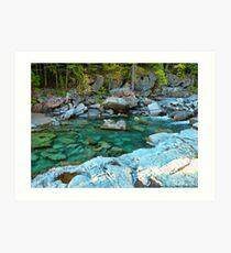 MacDonald Creek - Glacier National Park Art Print