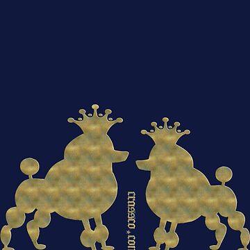 King poodle pair - Königspudel - Gold von fuxart