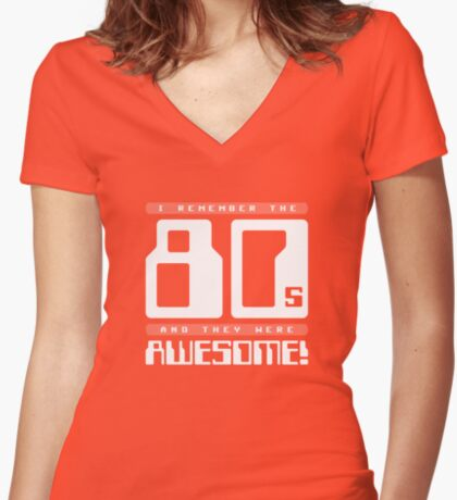 I Remember The 80s Women's Fitted V-Neck T-Shirt