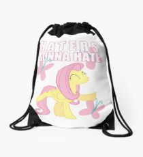 Fluttershy and butterflies Drawstring Bag