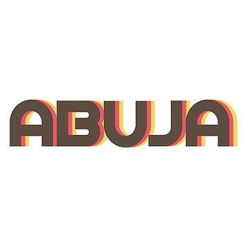 Abuja Retro by designkitsch