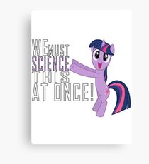 Science - Sticker Canvas Print