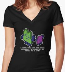 Ing and Err - The Mooninites  Women's Fitted V-Neck T-Shirt