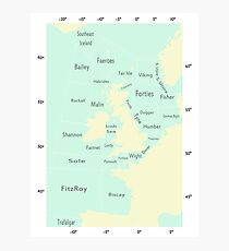 Shipping Forecast- Seaside colours Photographic Print