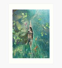 Unter den Lillies Kunstdruck