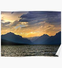 Lake MacDonald Evening Poster
