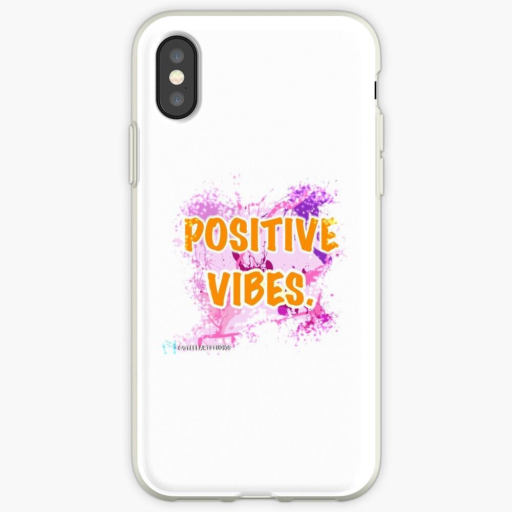 Vibras positivas Funda y vinilo para iPhone