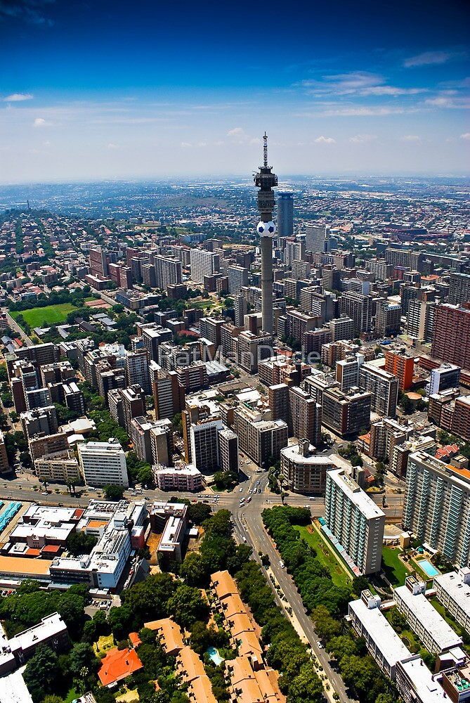 Aerial View of Jozi by RatManDude