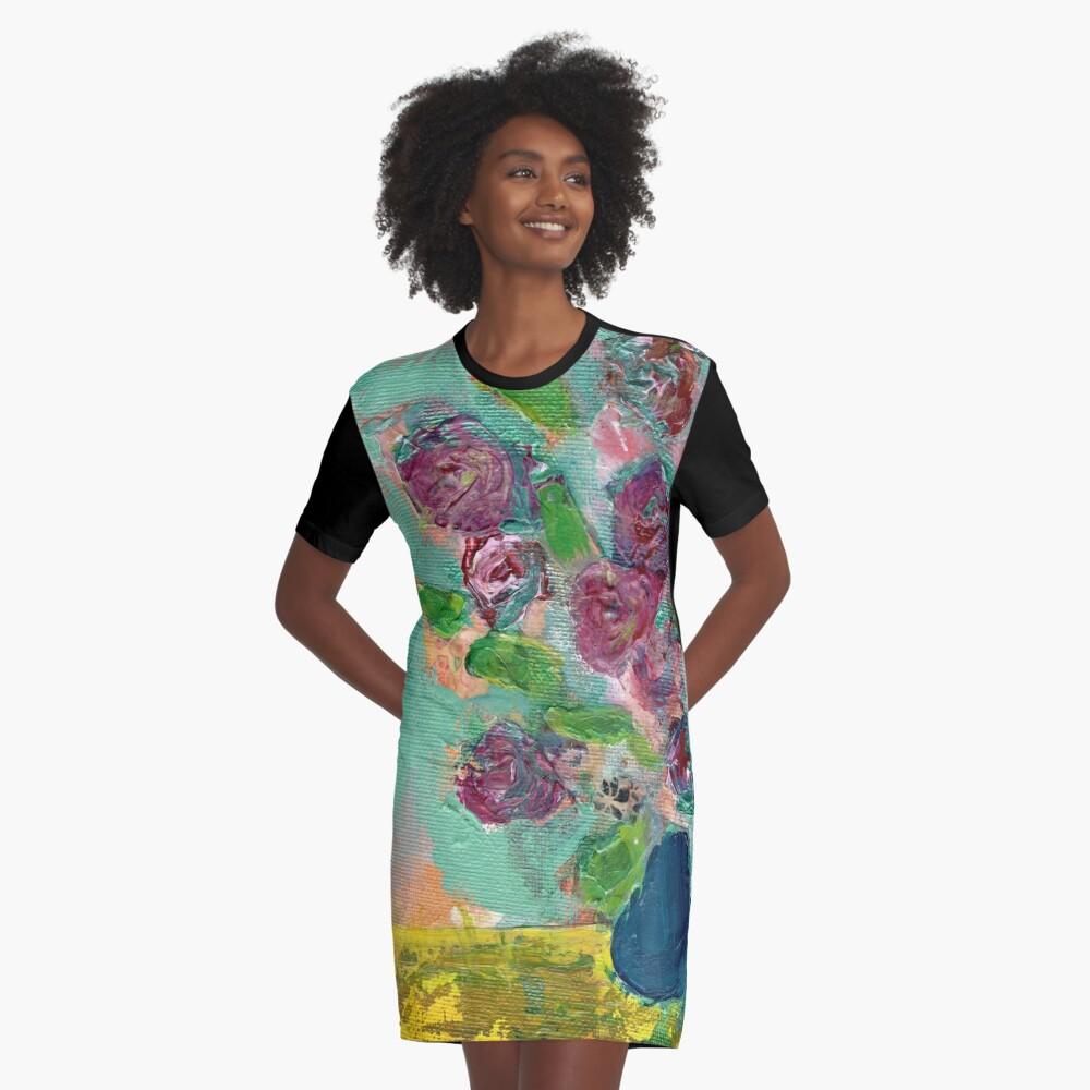Spring Bouquet 1 Graphic T-Shirt Dress