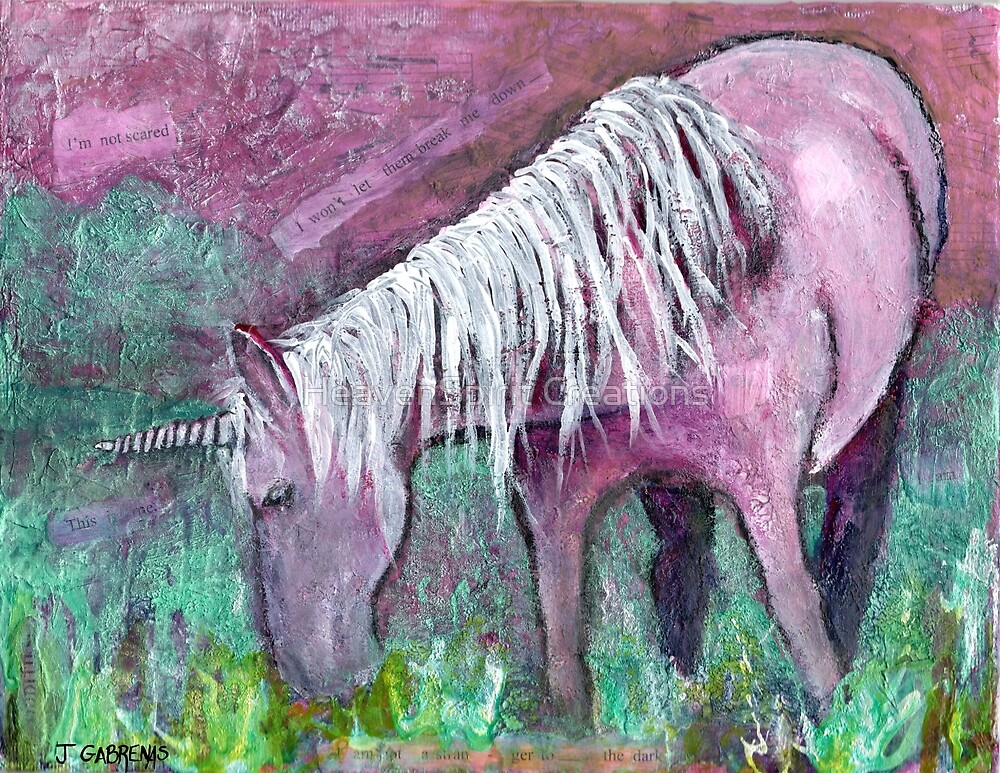 Unicorn Warrior at Rest by HeavenSpirit Creations