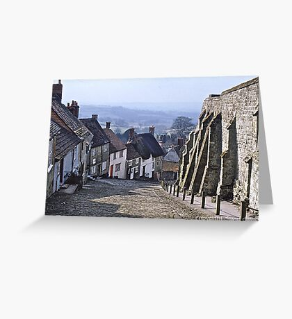 Gold Hill, Dorset, England Greeting Card