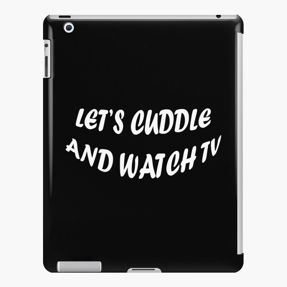 Abrazemos y veamos televisión Funda y vinilo para iPad