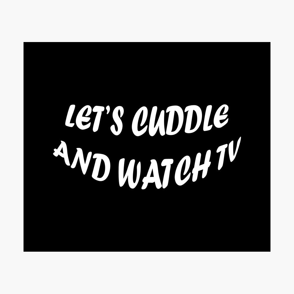 Abrazemos y veamos televisión Lámina fotográfica