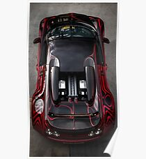 Birds Eye View of the Bugatti Veyron! Poster