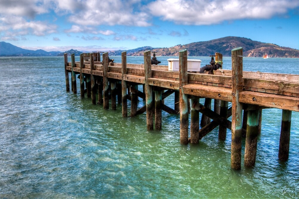 The Old Alcatraz Dock that laid upon the Blue Waters by pendleypictures